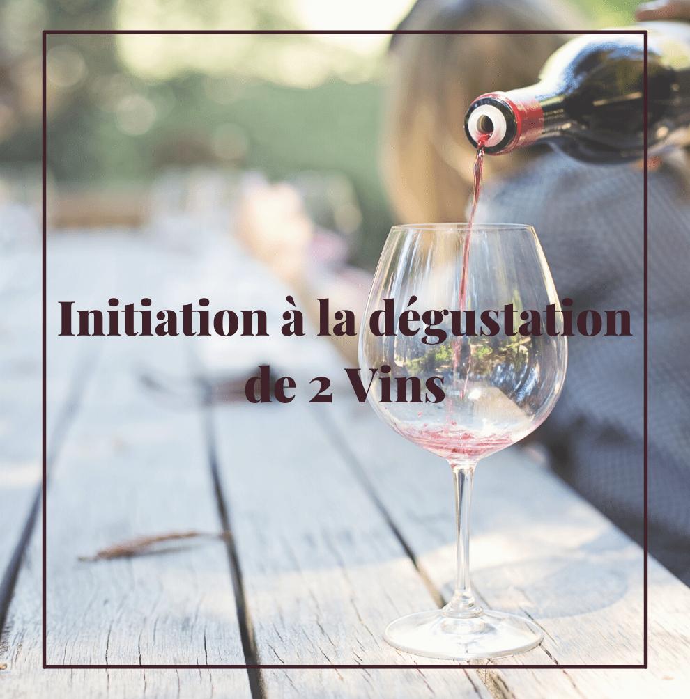 Initiation à la dégustation de 2 vins