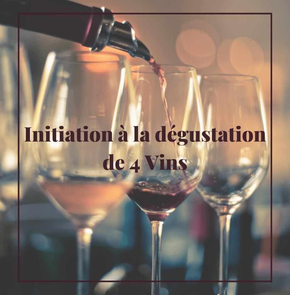Initiation à la dégustation de 4 vins