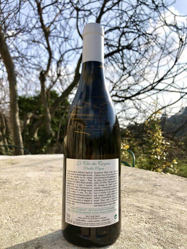 Vieilles vignes clos de cazaux contre étiquette
