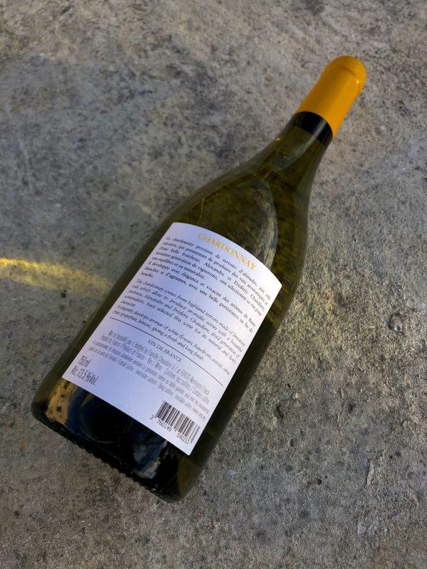 Chardonnay 2020 contre étiquette Château Pesquié