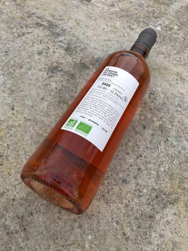 RDV sous le chêne rosé contre étiquette do Grand Jacquet