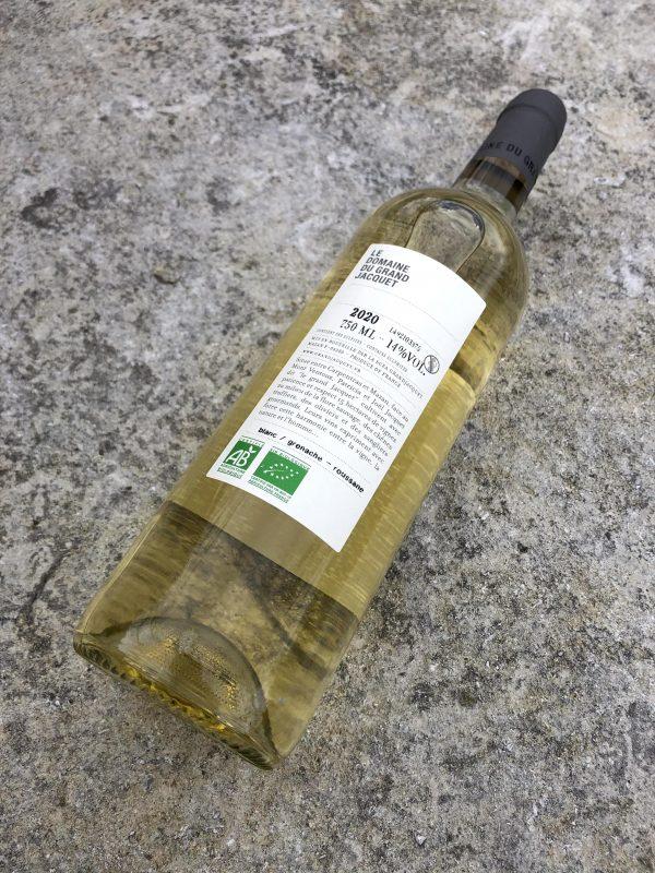 RDV sous le chêne blanc contre étiquette do Grand Jacquet